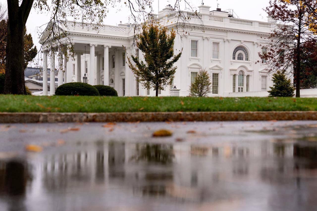 The White House is shown Thursday, Nov. 12, 2020, in Washington. (AP Photo/Andrew Harnik)