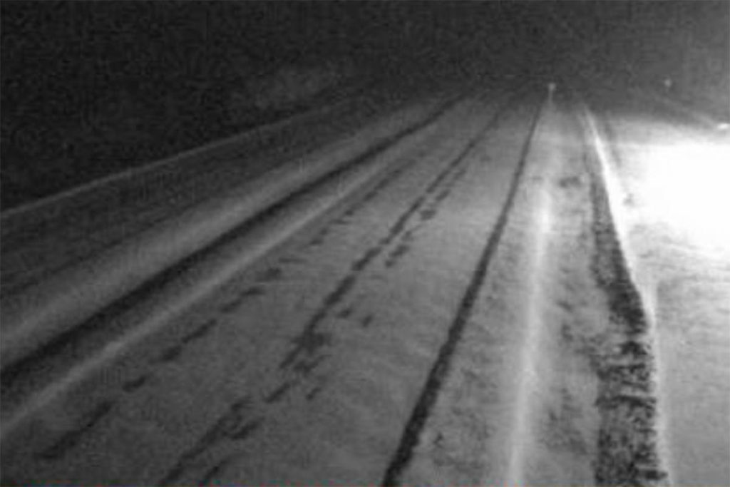 Current conditions on Hwy 97C. (DriveBC)