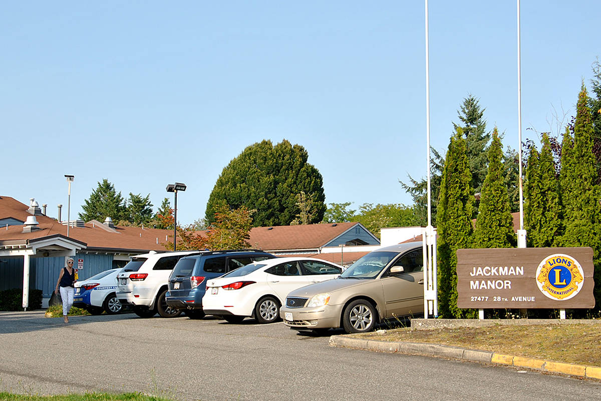 One staff member and three residents at Jackman Manor in Aldergrove have tested positive for COVID-19, the FHA said (Black Press Media file)