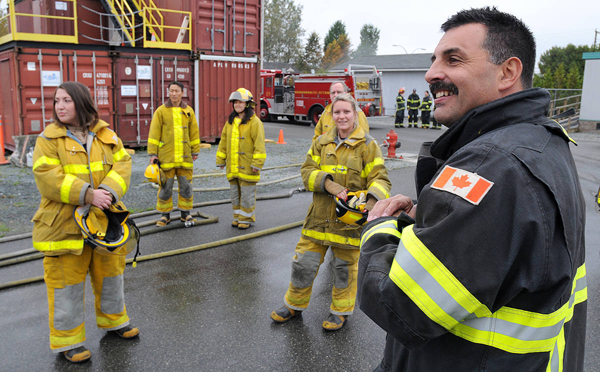 Gary Proznick in 2012 spoke at the Township of Langley fire department's Safety Stars event. (Special to Langley Advance Times)