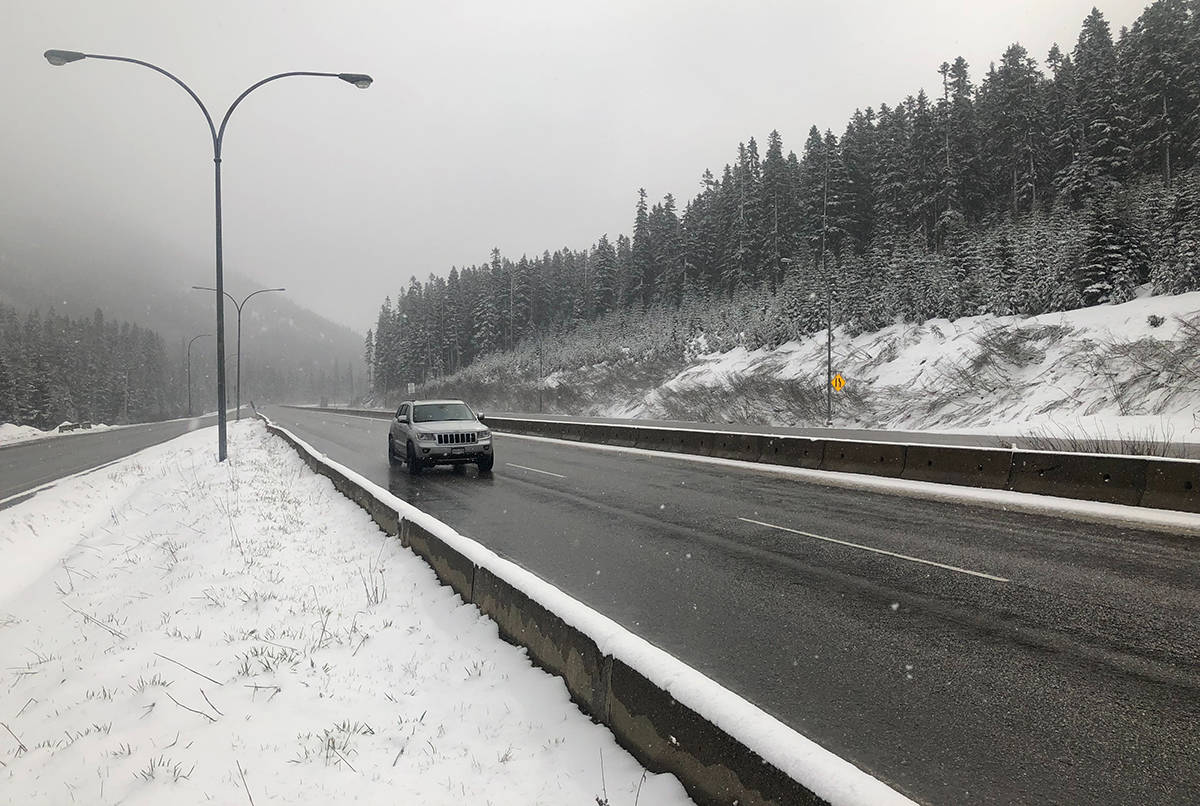 Coquihalla Highway on Saturday, April 27, 2019. (Liam Harrap/Revelstoke Review)