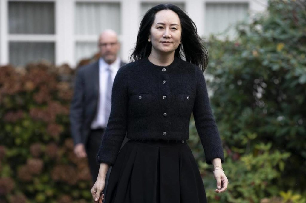 Chief Financial Officer of Huawei, Meng Wanzhou leaves her home in Vancouver, Friday, October 30, 2020. The lengthy extradition process resumes today for Huawei executive Meng Wanzhou as her lawyers fight against her removal from Canada to the United States. THE CANADIAN PRESS/Jonathan Hayward