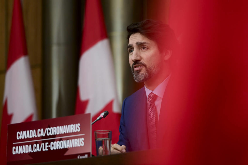 Prime Minister Justin Trudeau provides an update on the COVID pandemic during a press conference in Ottawa on Tuesday, Nov. 17, 2020. THE CANADIAN PRESS/Sean Kilpatrick