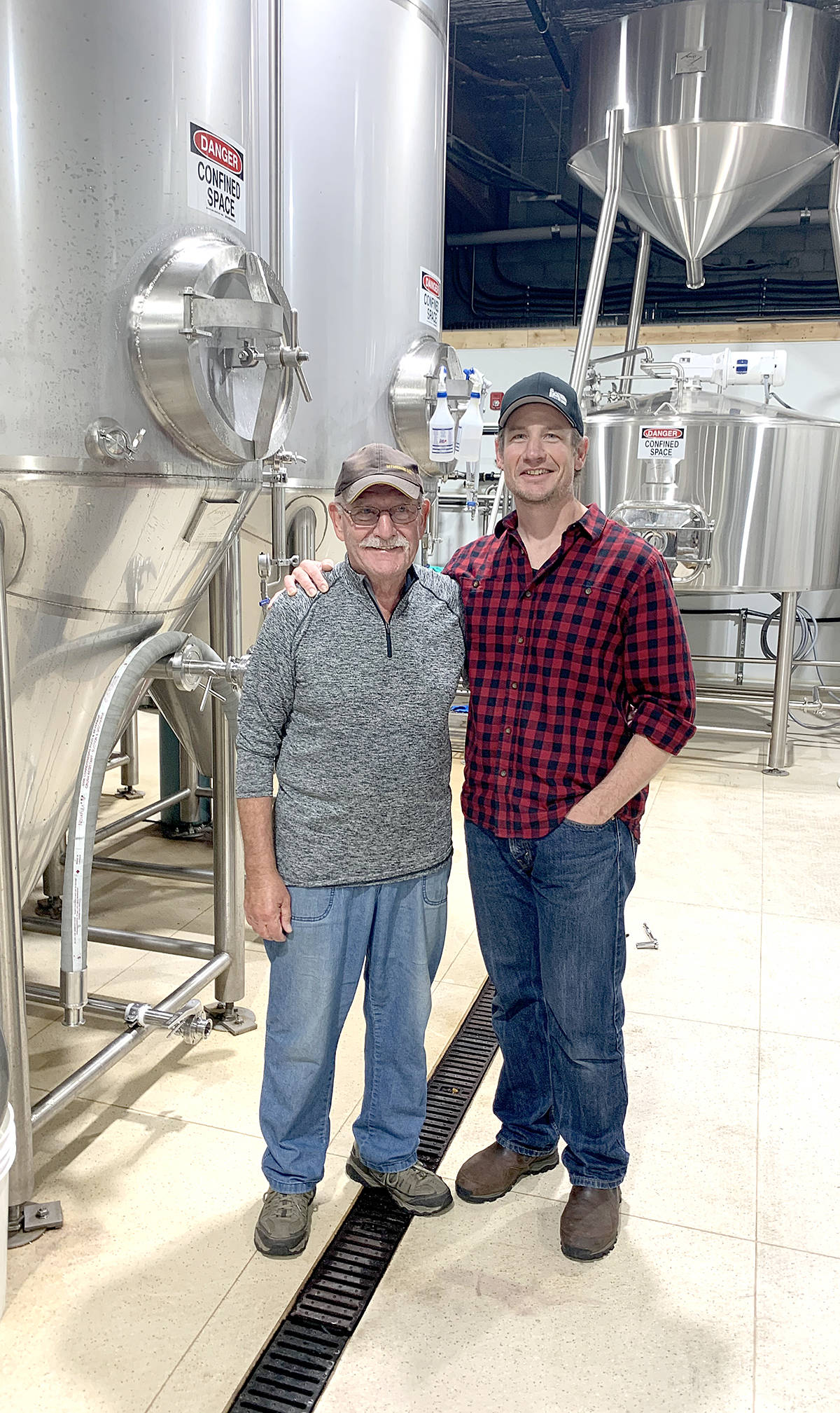 Arnold Tobler, co-owners of Farm Country Brewing, and his father, Arnold Tobler, Sr. (Special to Langley Advance Times)