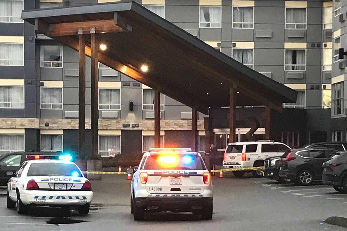 One person was wounded in a shooting incident at the Sandman in Langley (Matthew Claxton/Langley Advance Times)