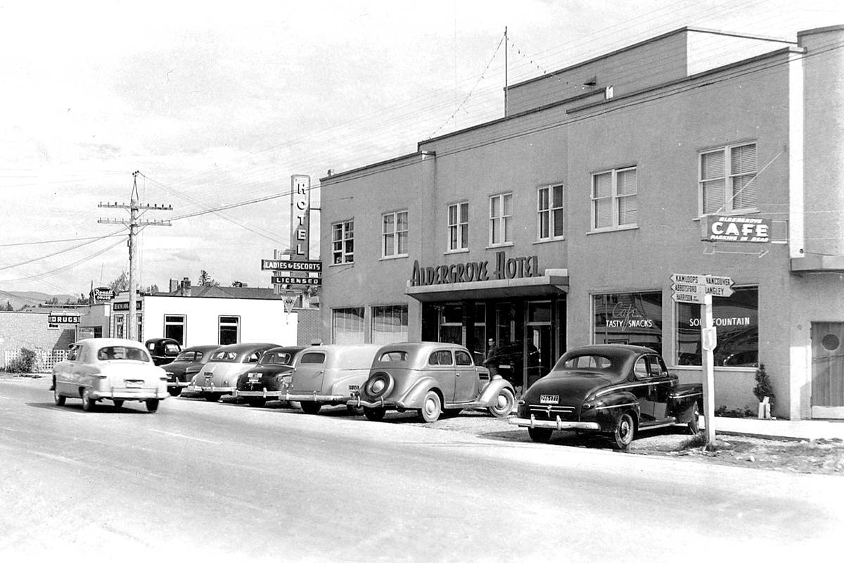 The Aldergrove Hotel circa 1950 (Alder Grove Heritage Society/Special to the Aldergrove Star)