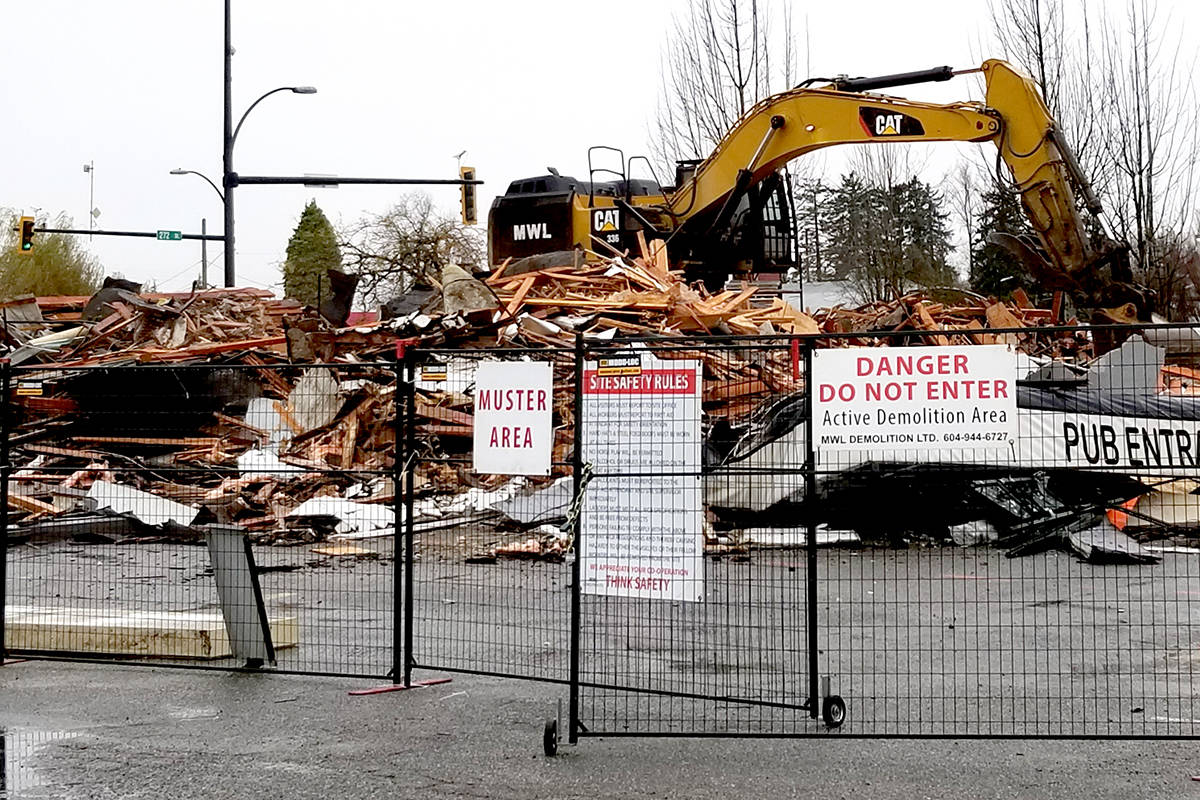 Within hours, the Alder Inn was no more. (Tribute Online Media/Special to the Aldergrove Star)