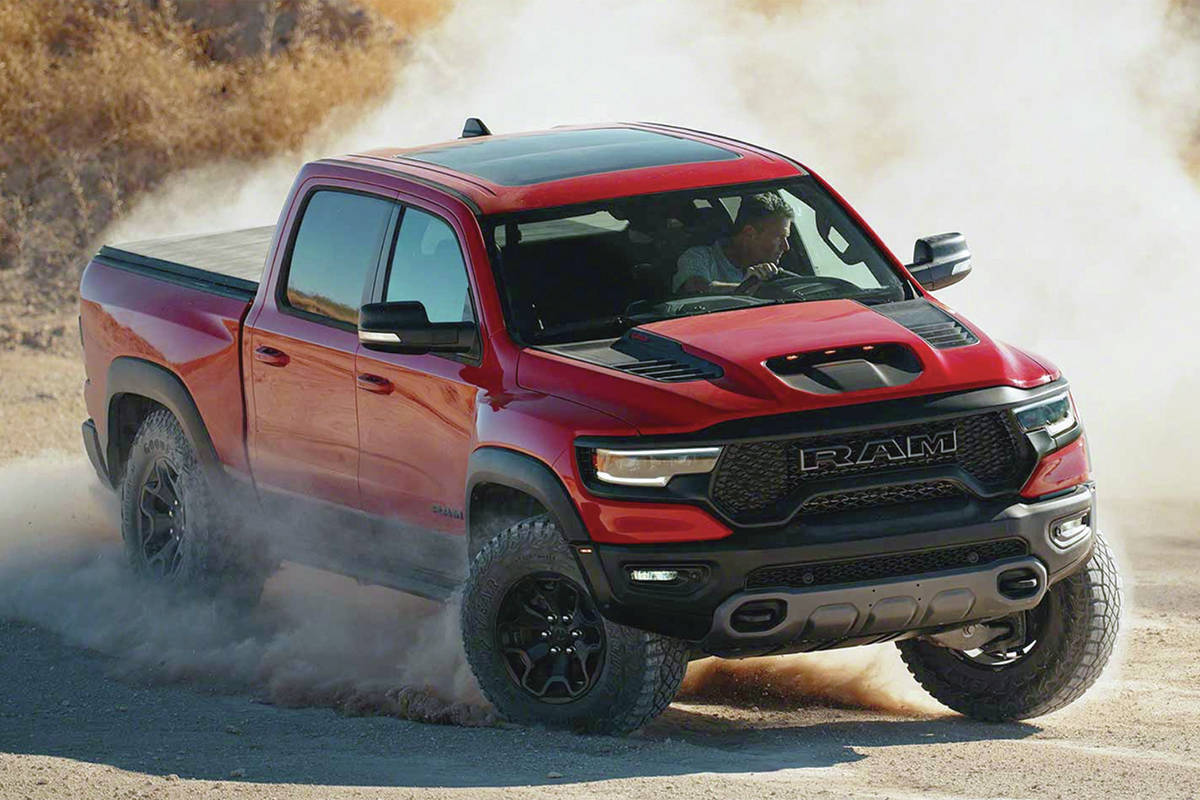 The horsepower war between FCA and Ford has spilled over to the Ram and the F-150 from the Challenger and Mustang. PHOTO: FCA