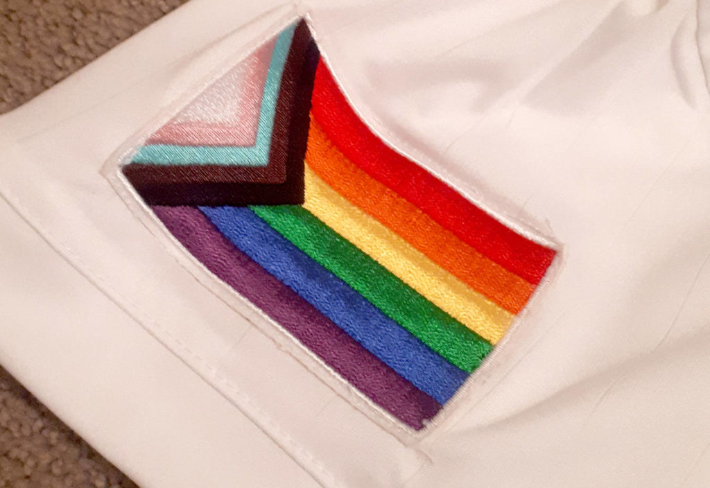 Members of Chilliwack FC's premier women's team put this patch on their jersey to recognize the LGBTQI2S+ and BIPOC communities. (Submitted photo)