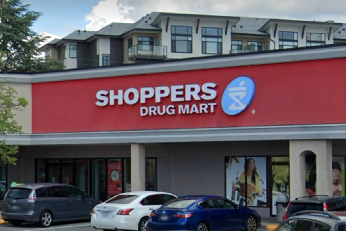 Loblaw, the parent company of the Shoppers Drug Mart chain, announced Thursday, Nov. 19, 2020 that a staff member at the 20151 Fraser Hwy. location in Langley tested positive for COVID-19. (Google)