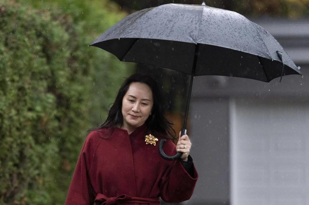 Chief Financial Officer of Huawei Meng Wanzhou leaves her home in Vancouver, Wednesday, November 18, 2020. nbsp;Prime Minister Justin Trudeau is defending the arrest of Huawei executive Meng Wanzhou by Canadian authorities, saying Canada can't pick and choose when it follows the rule of law. THE CANADIAN PRESS/Jonathan Hayward