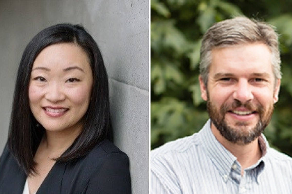 Nina Pak Lui and Chad Friesen are two TWU teachers who were recognized for their excellence in their professions during this month's virtual grad ceremonies. (Special to Langley Advance Times)