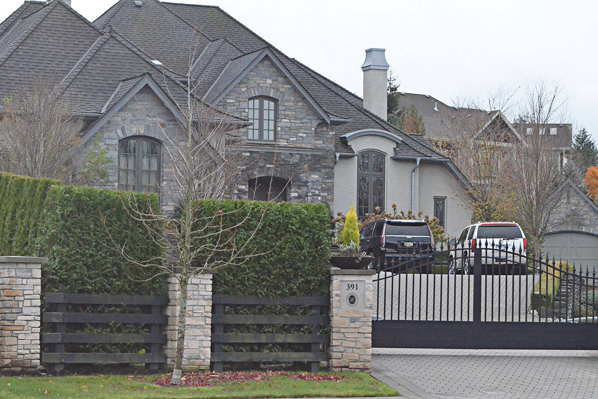 The $3.169 million home in High Point Equestrian Estates is the target of multiple court actions, including a foreclosure by a firm holding three mortgages on the property. (Matthew Claxton/Langley Advance Times)