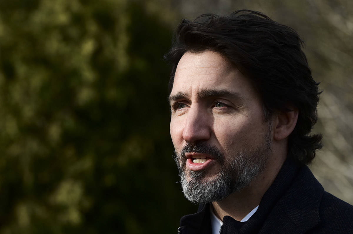 Prime Minister Justin Trudeau makes an announcement at the Ornamental Gardens in Ottawa on Thursday, Nov. 19, 2020. THE CANADIAN PRESS/Sean Kilpatrick