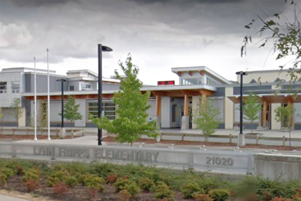 Langley School District issued an COVID-19 exposure alert for Lynn Fripps Elementary School. (Google)