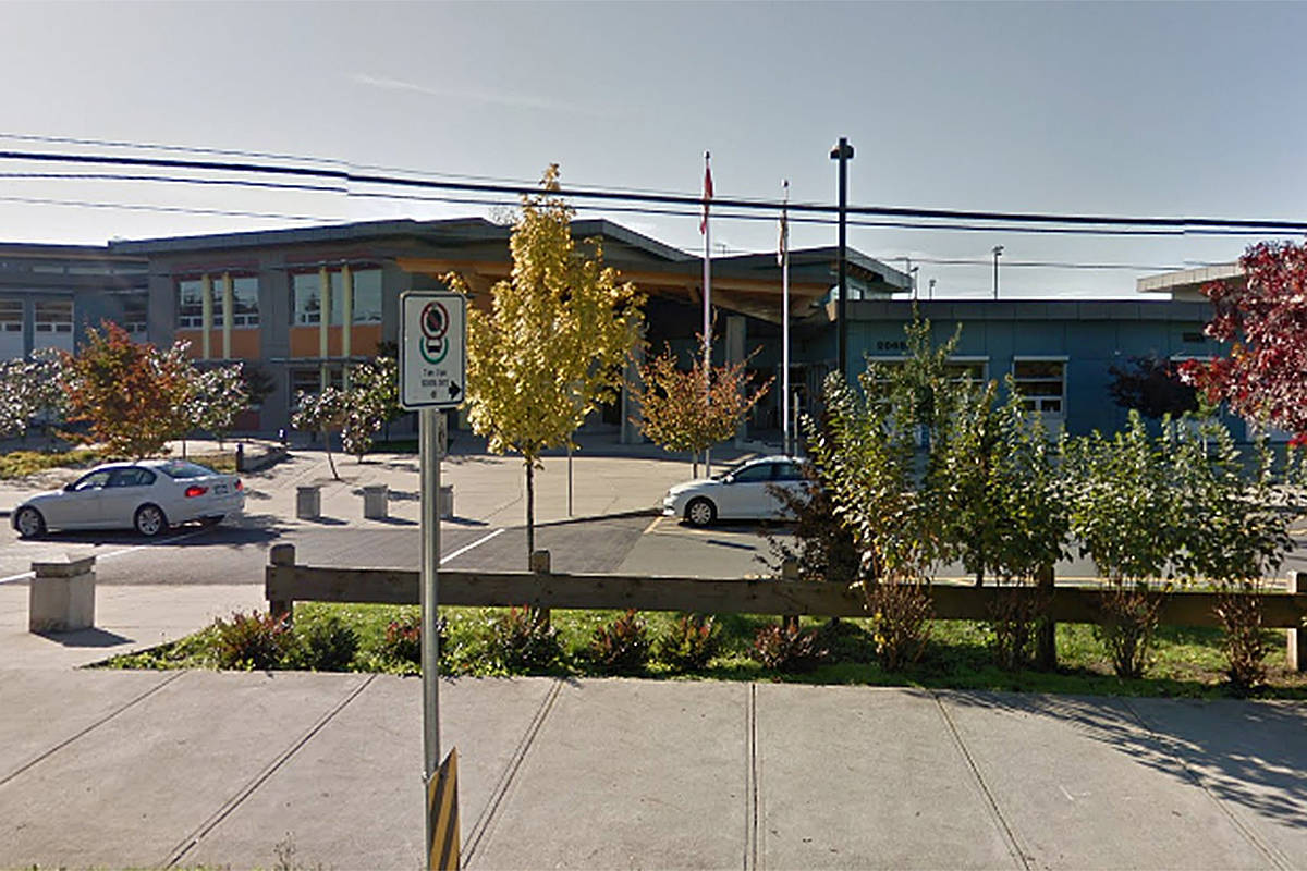 Yorkson Creek Middle School in Langley is the latest school in town to report a COVID exposure, sending out early notification letters on Saturday, Nov. 21. (Screengrab/GoogleMaps)