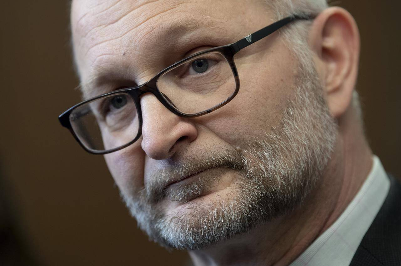 Minister of Justice and Attorney General of Canada David Lametti speaks with the media following party caucus in Ottawa, Tuesday, January 28, 2020. THE CANADIAN PRESS/Adrian Wyld