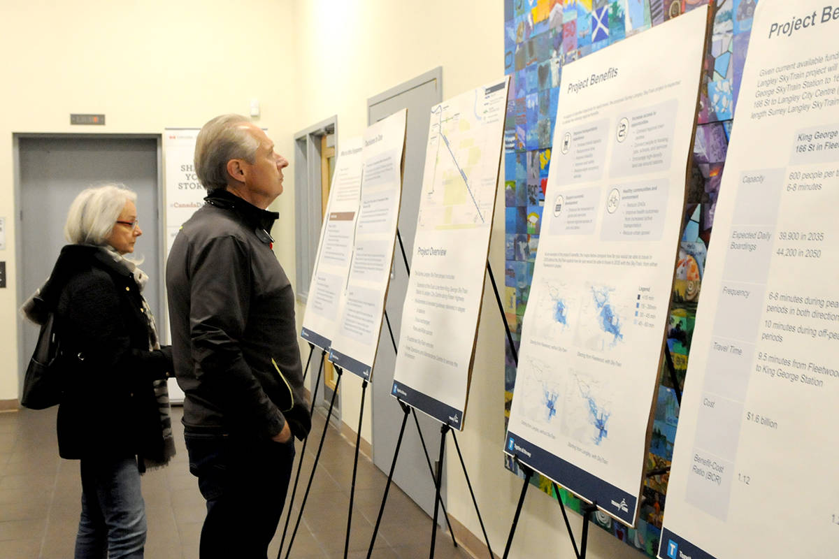 Langley residents took their questions and concerns to TransLink's open house at Langley City Hall in November of 2019. (Langley Advance Times files)