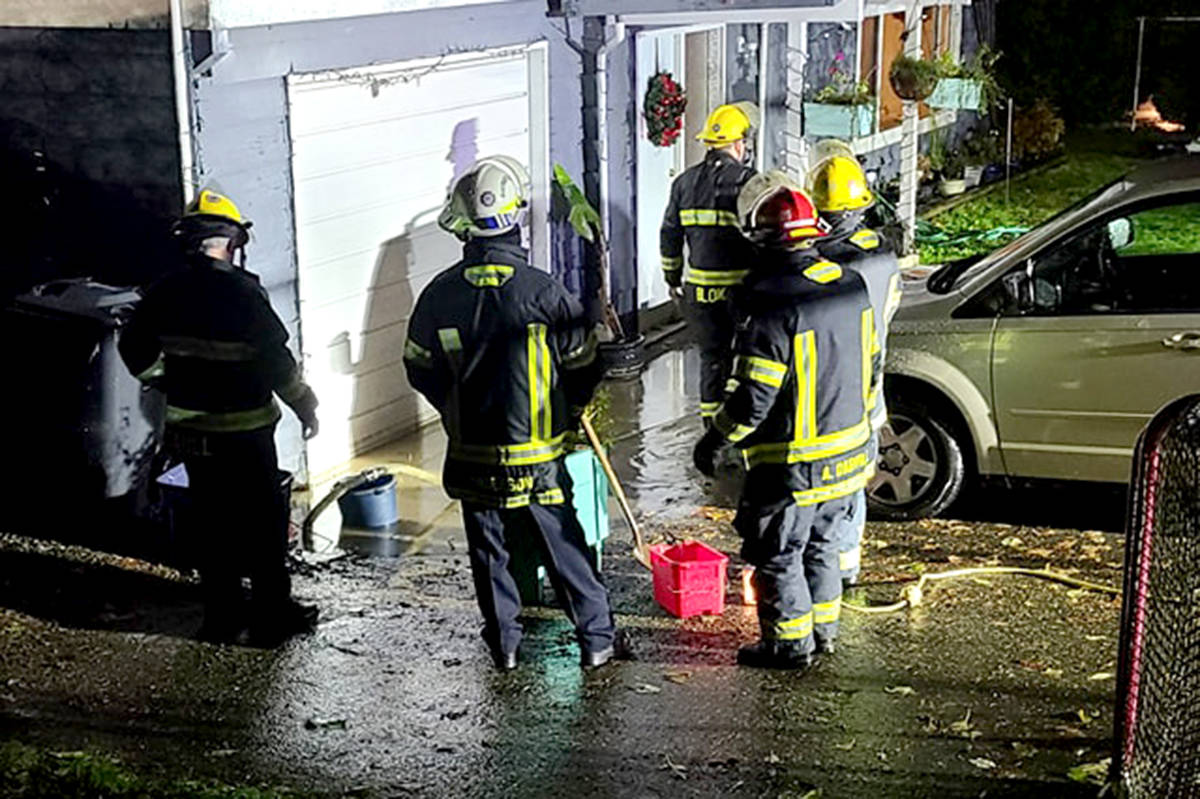 Fire crews dealt with a flooding home in Aldergrove last Tuesday night. (Liane Bisaillon/Special to The Star)