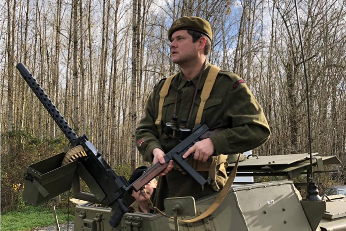 White Rock councillor and Earl Marriott Secondary teacher Christopher Trevelyan in uniform for his cameo in Promises, a forthcoming film featuring scenes of the Italian campaign in the Second World War. Contributed photo