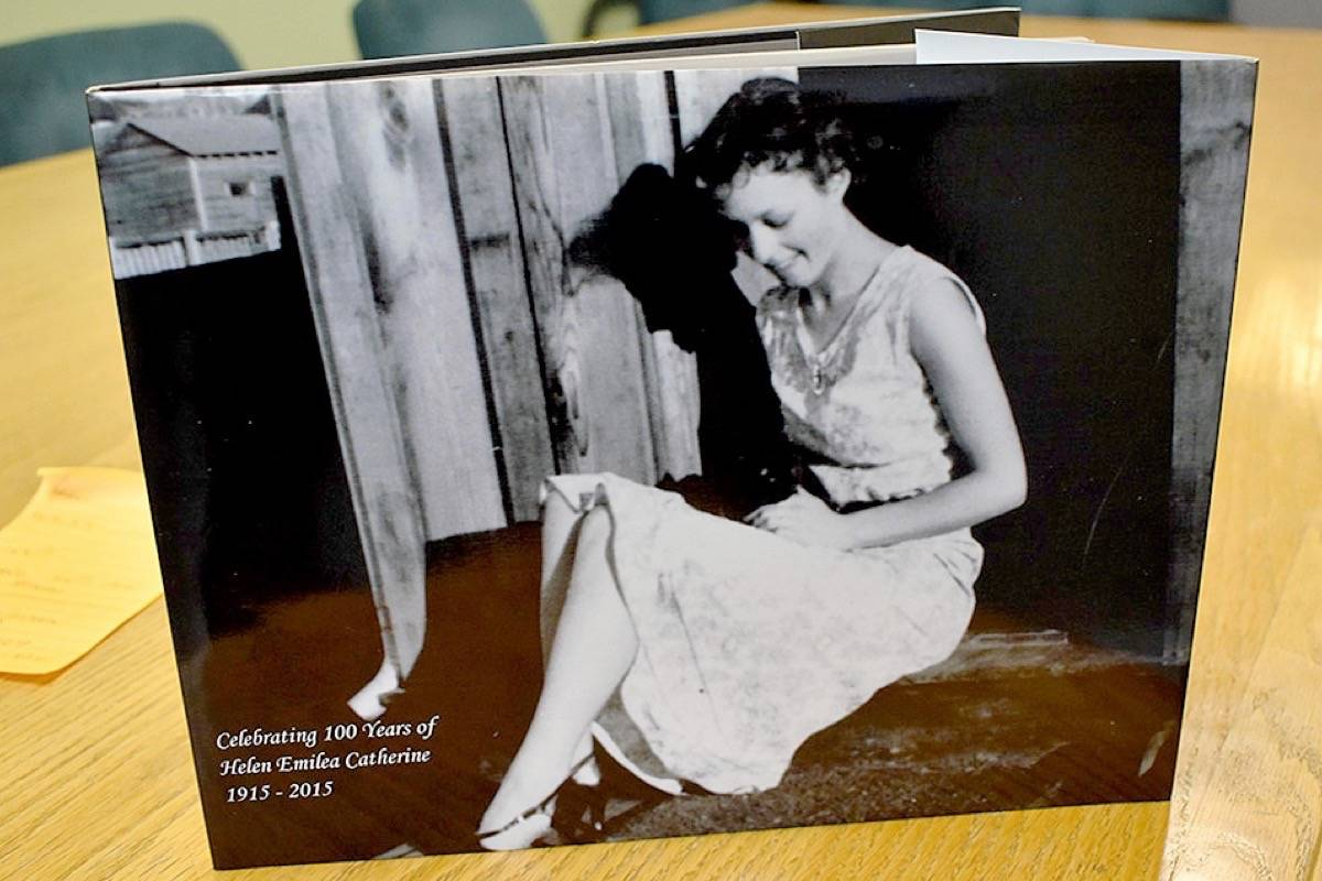 Helen Watson's family had this book made to commemorate her 100th birthday. Watson turned 105 on Nov. 21, 2020. (Aaron Hinks photo)