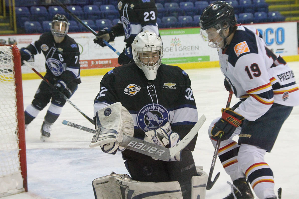 The B.C. Hockey League's Wenatchee Wild, the lone American franchise, is taking a hiatus from the 2020-21 season due to COVID-19 restrictions. All players have been released to find other opportunities to play. (Black Press file photo)