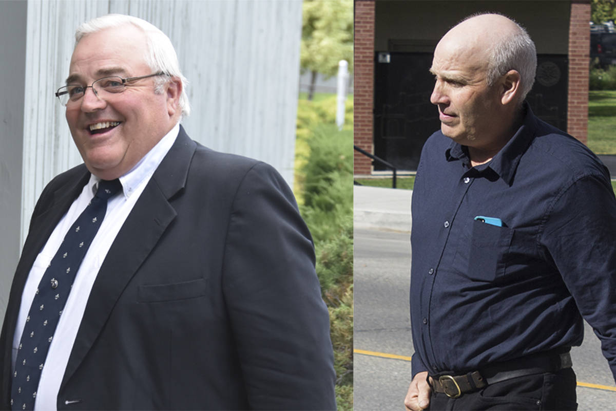 Winston Blackmore (left) and James Oler (right) were sentenced on separate charges of polygamy this week in Cranbrook Supreme Court.