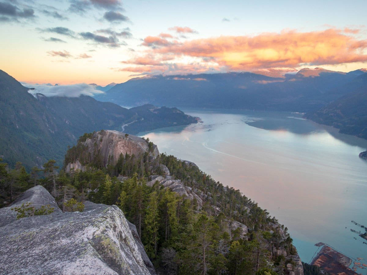 The 6.3km Stawamus Chief Hike in Squamish is a stellar hike that snakes to three different peaks.