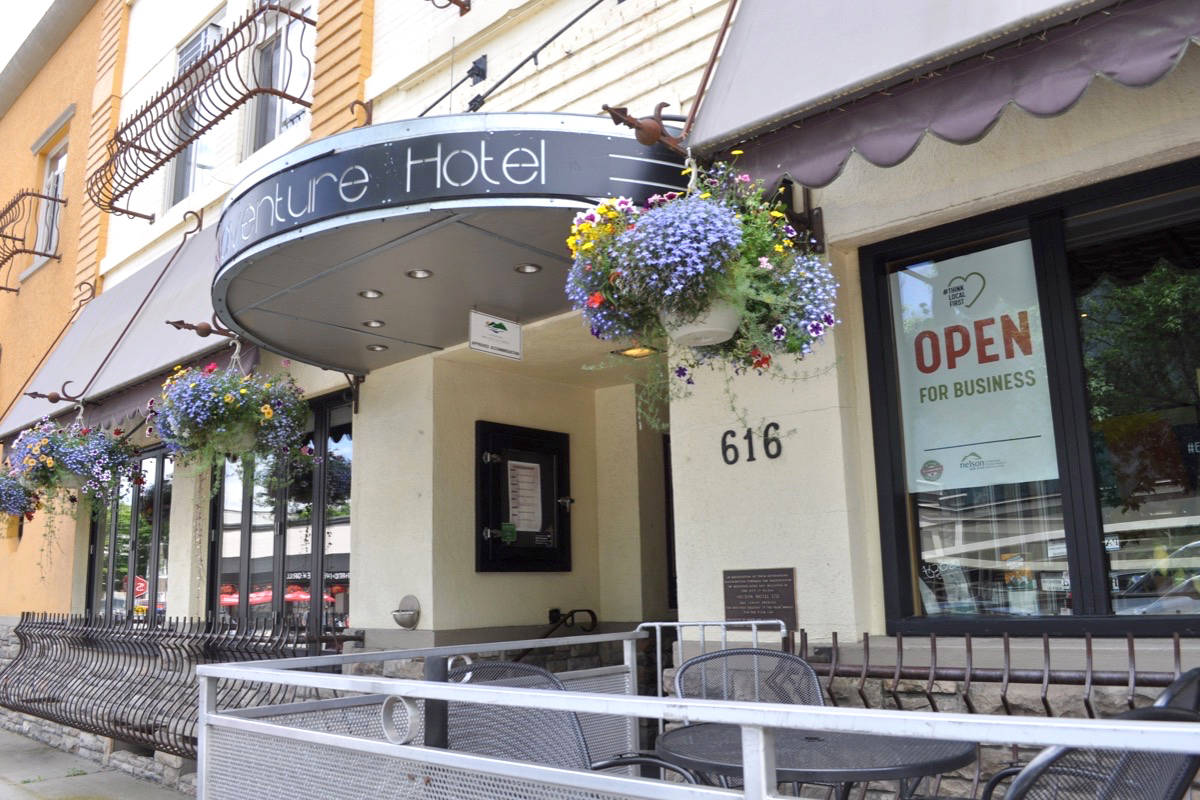 An employee of the Adventure Hotel was taken to hospital on Nov. 20 after she confronted a customer of Empire Coffee about not wearing a mask. File photo.