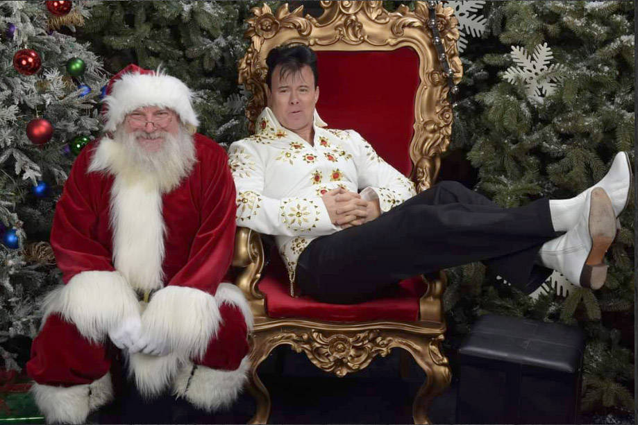 Steve 'Elvis Elite' Elliott has released a DVD of him performing his Christmas show to bring hope and joy to seniors in lockdown. (Submitted)