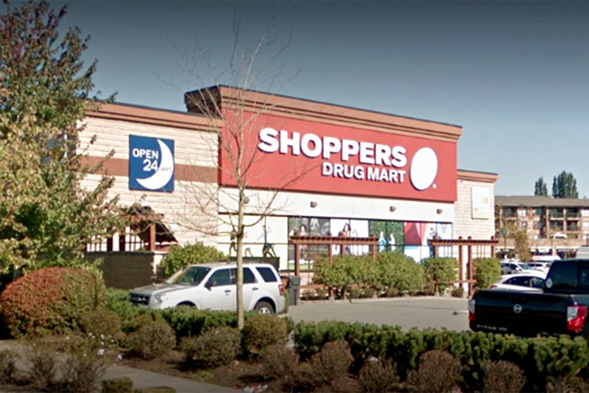 Loblaw, the parent company of the Shoppers Drug Mart chain, announced Thursday, Nov. 26, 2020 that a staff member at the 20159 88th Ave. location in Langley tested positive for COVID-19. (Google)