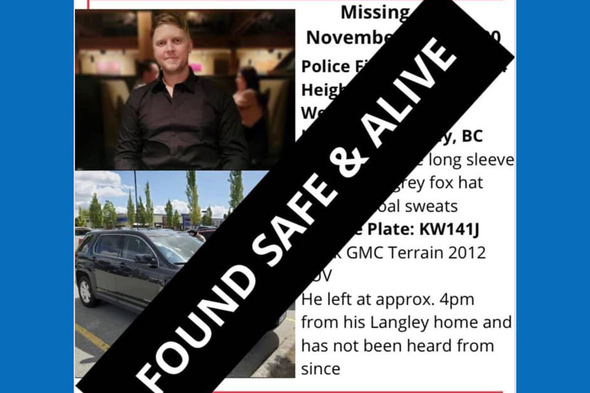 The online poster for Joel Goddard, who left his Willoughby home Nov. 10, 2020, has been updated by his family and friends who received word that he's been found.