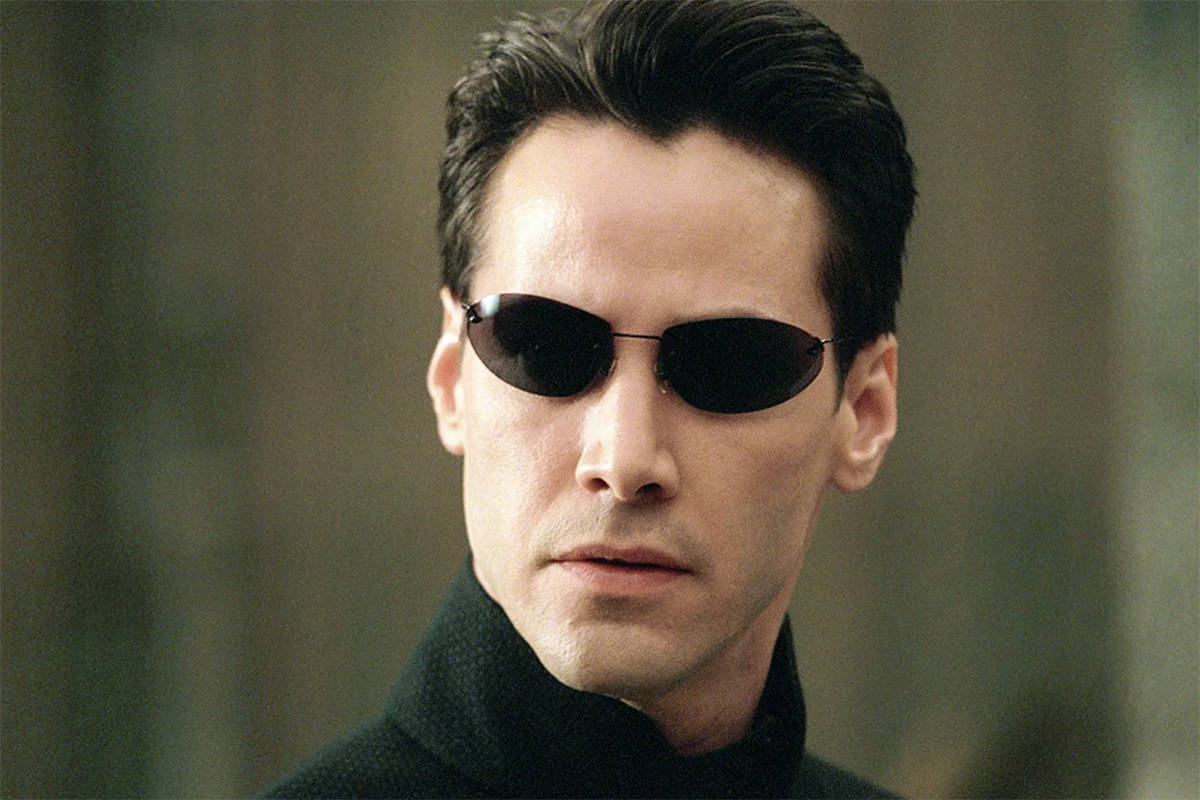 "Keanu Reeves in ""The Matrix."""