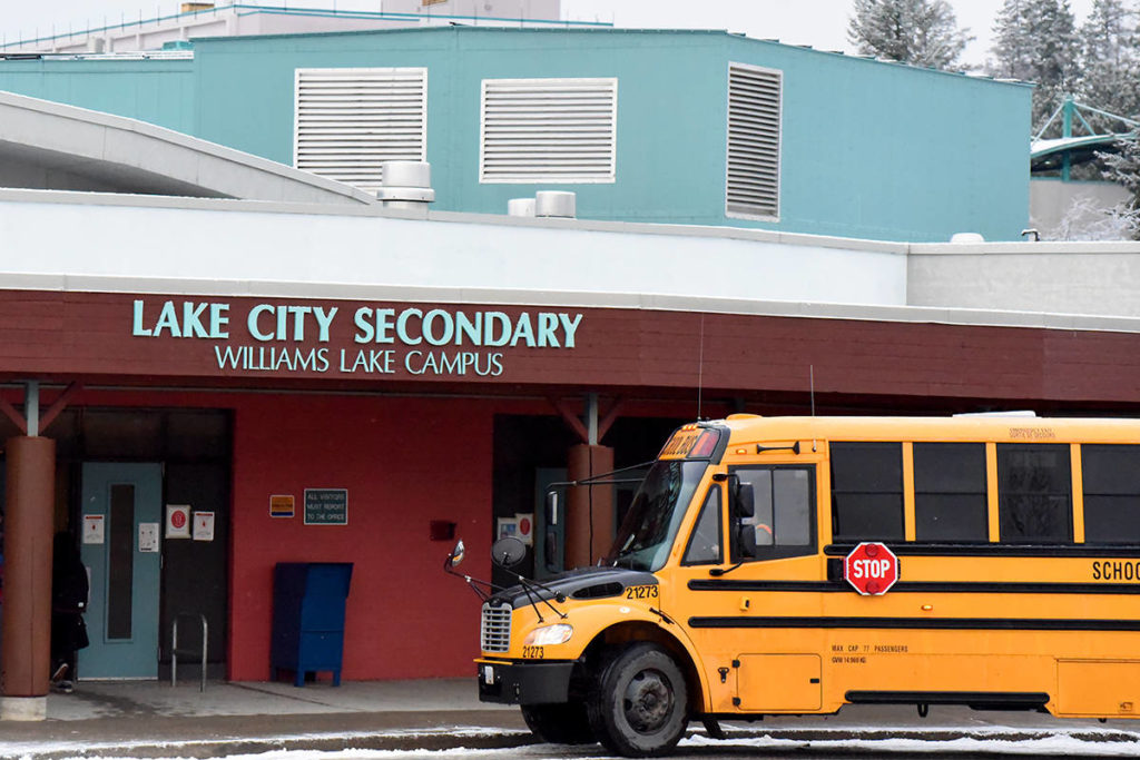School District 27 announced the first confirmed case of COVID-19 this week (Nov. 23) at Lake City Secondary School Williams Lake campus. (Angie Mindus photo - Williams Lake Tribune)