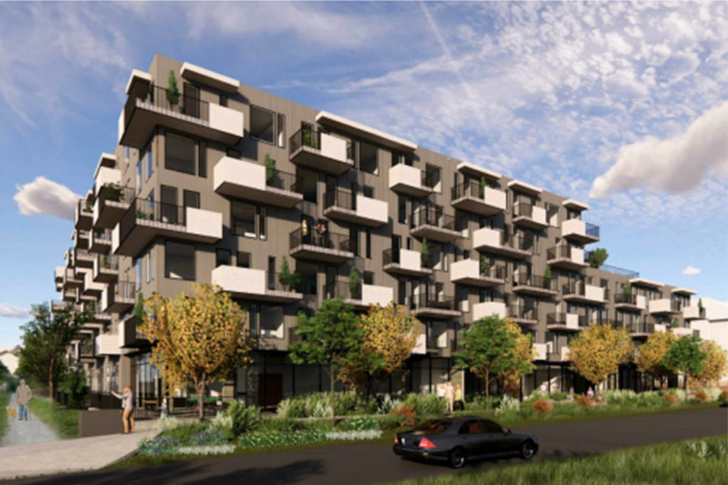 A rendering of the planned seniors housing apartment complex. (Langley Township/Special to the Langley Advance Times)