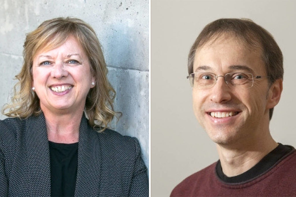 Dr. Sheryl Reimer-Kirkham and Dr. Richard Sawatzky were inducted into an elite fellowship with the Canadian Academy of Nursing. (TWU/Special to Langley Advance Times)
