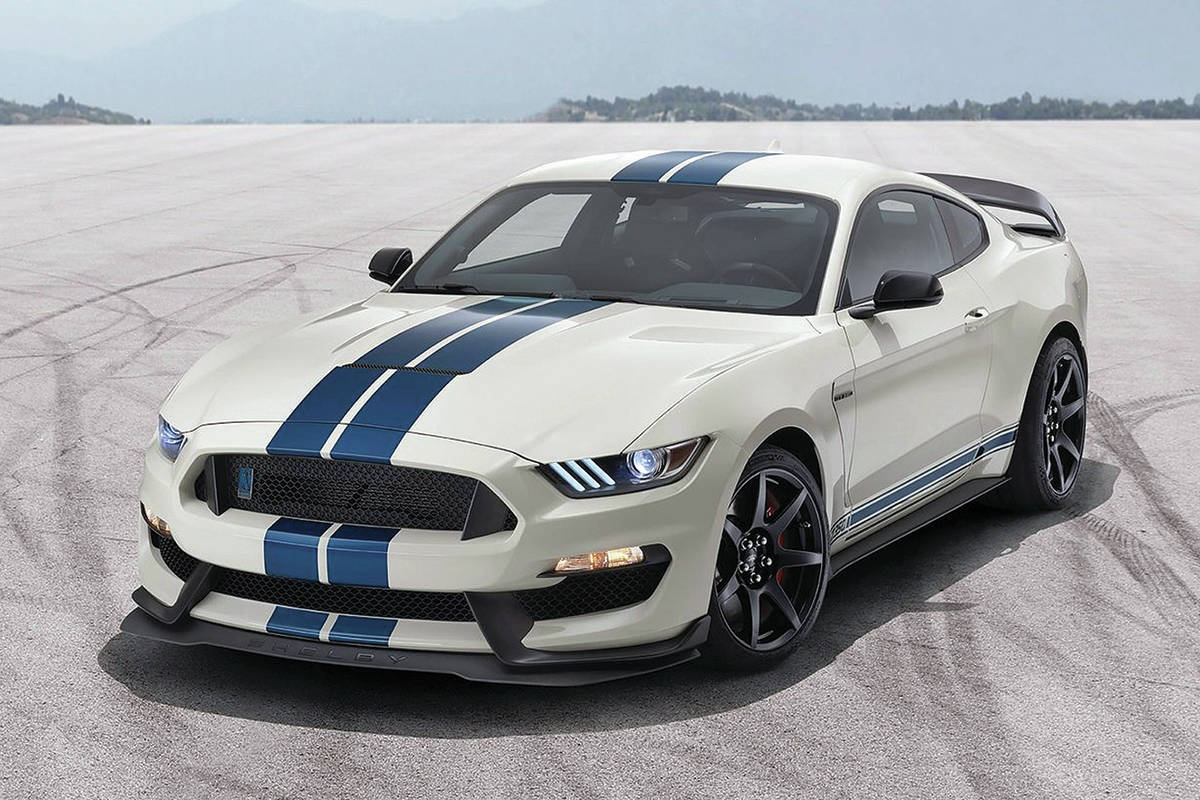 The GT350 is being overshadowed by the much more powerful GT500, partly because the GT500 costs a reasonable $18,000 more. PHOTO: FORD