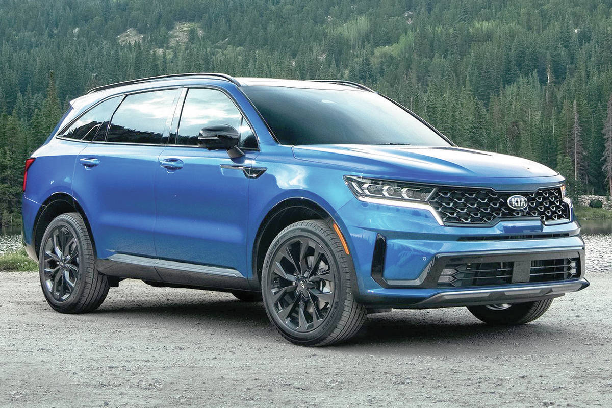 The redesigned Kia Sorento will be available as a front-wheel-drive hybrid model, but not until after the launch. PHOTO: KIA
