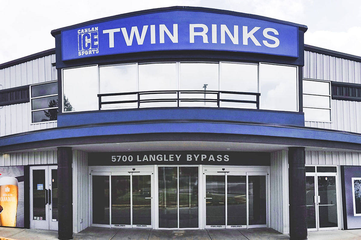 Langley City's Twin Rinks is one of the Lower Mainland sites where Adult Safe Hockey League adult hockey has resumed for the modified fall season. (Canlan Ice Sports Corp. Facebook)