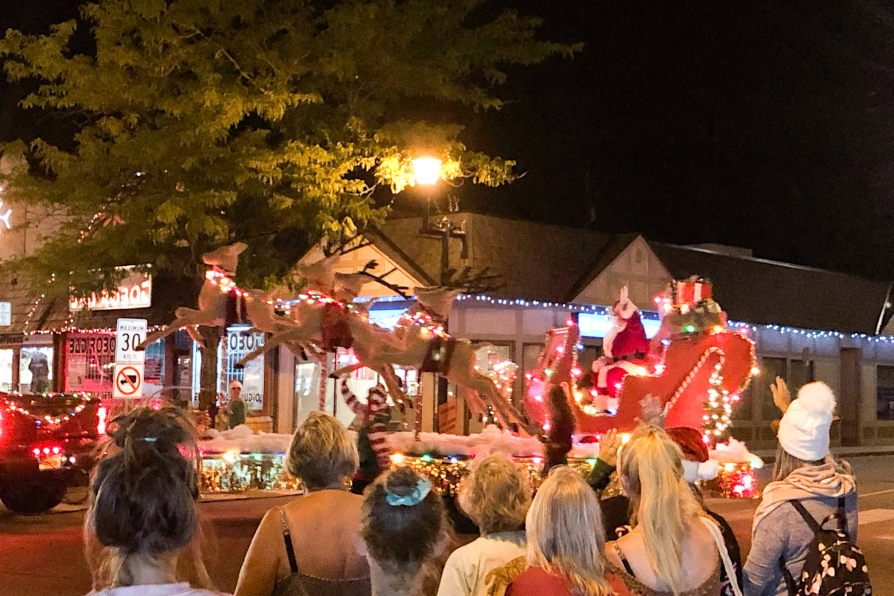 Movie crews filmed a holiday parade in Summerland in July. The parade, filmed on Main Street in Summerland, is for the movie, The Christmas Yule Blog. (John Arendt - Summerland Review)