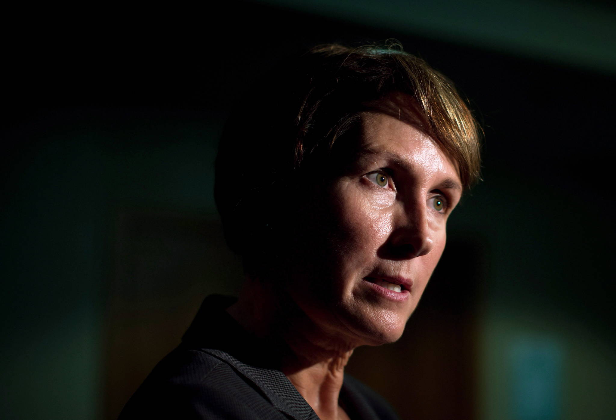 Mary Ellen Turpel-Lafond speaks to a reporter in Vancouver on November 13, 2015. (THE CANADIAN PRESS/Darryl Dyck)