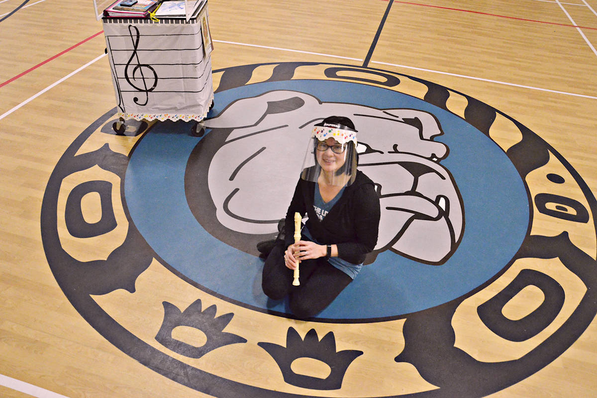Kanata Soranaka became a Belmont bulldog this school year, and has used technology and innovation to continue to bring music to students despite the COVID-19 pandemic. (Heather Colpitts/Langley Advance Times)
