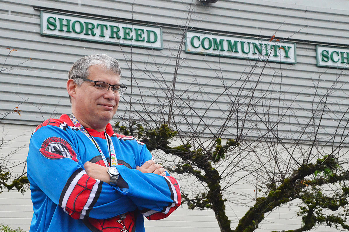 Troy Tardiff has become a shoulder to lean on at Aldergrove's Shortreed Community Elementary. (Matthew Claxton/Langley Advance Times)