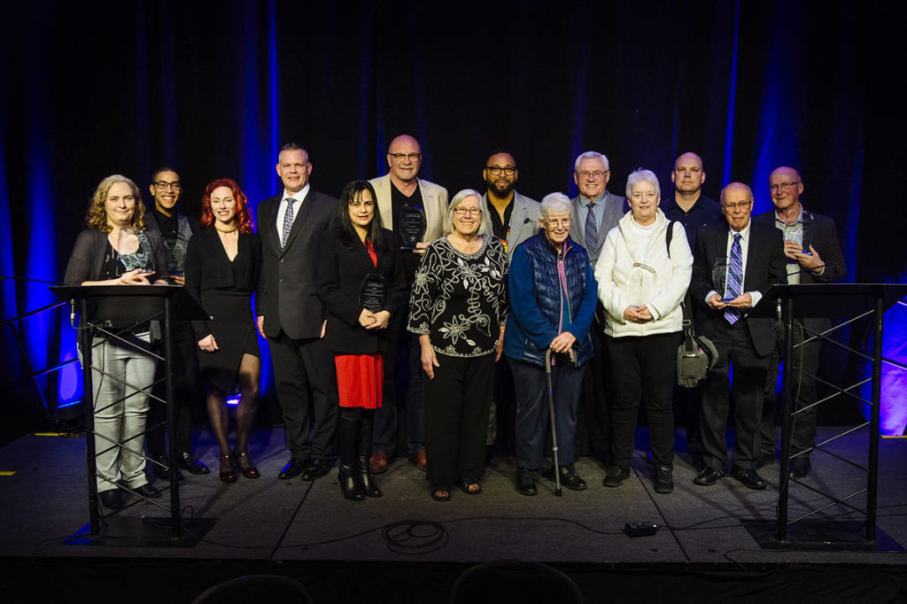 The recipients of the 2019 Fraser Valley Cultural Diversity Awards held in Abbotsford. (Jason Brown/Revival Arts Studio)