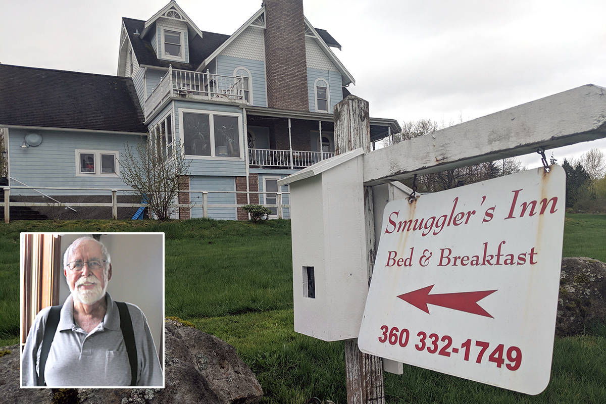 A criminal trial for Robert Boule (inset), the owner of the Smuggler's Inn, is to begin in August 2021, following a failed application to strike down immigration-act provisions that he is charged under. (Photo courtesy of The Northern Light newspaper)