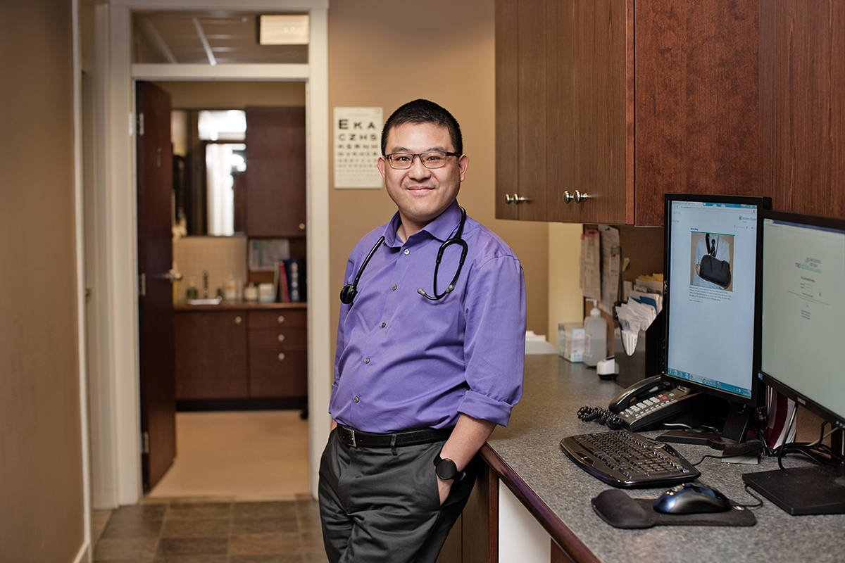 To be able to provide some comfort during this difficult time is very rewarding, says Dr. Leo Wong, physician at St. Luke Family Practice and board member for the Langley Memorial Hospital Foundation.