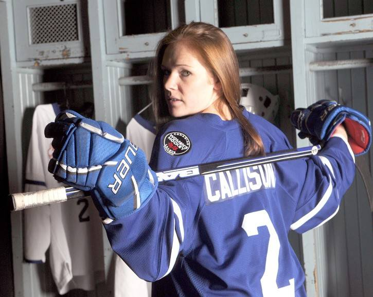 Haleigh Callison during a photo shoot for the Toronto Furies when she played professionally in the Canadian Women's Hockey League. (File photo)