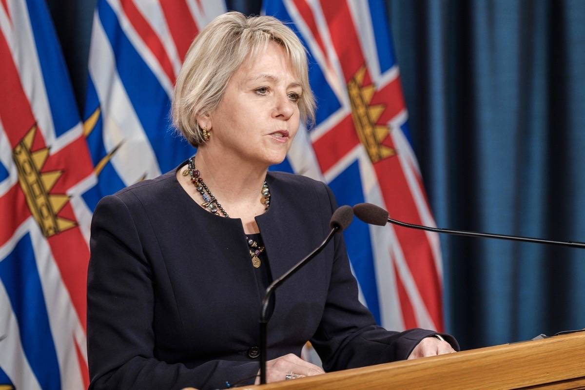 Provincial health officer Dr. Bonnie Henry updates B.C.'s coronavirus situation at the legislature, Nov. 30, 2020. (B.C. government)