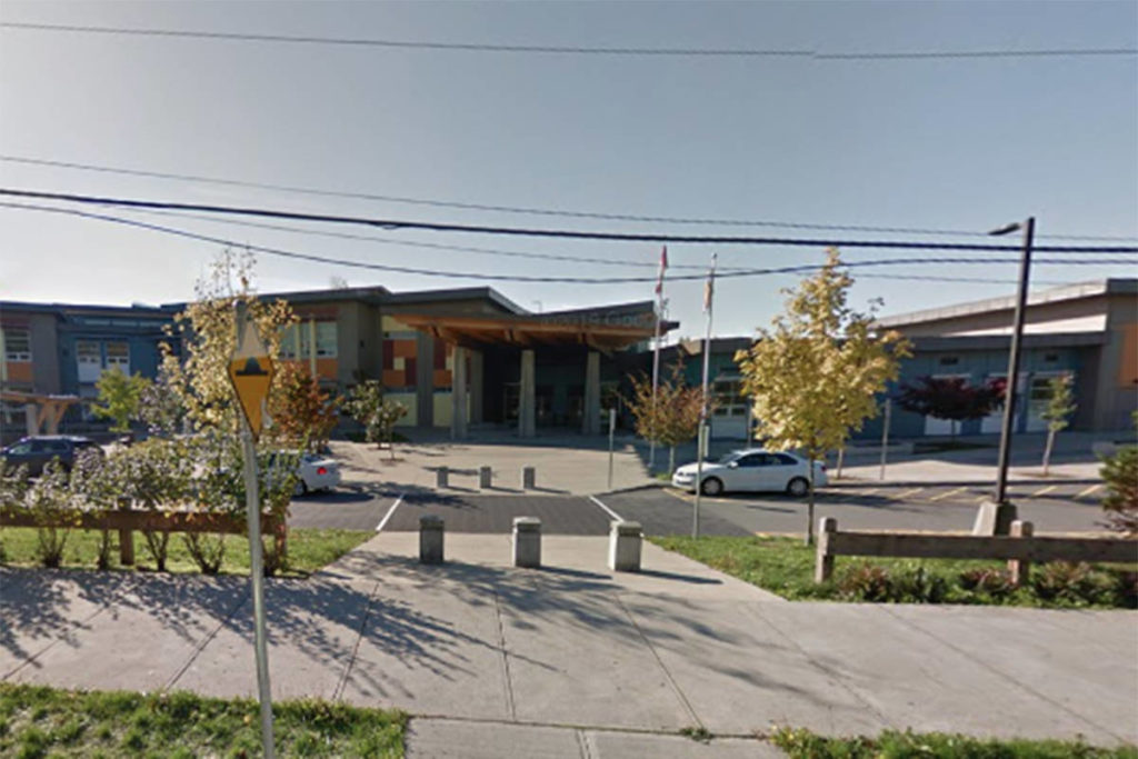 Yorkson Creek Middle School in Langley was one of three schools issued COVID-19 exposure alerts by the local district on Wednesday, Dec. 2, 2020. (Google)