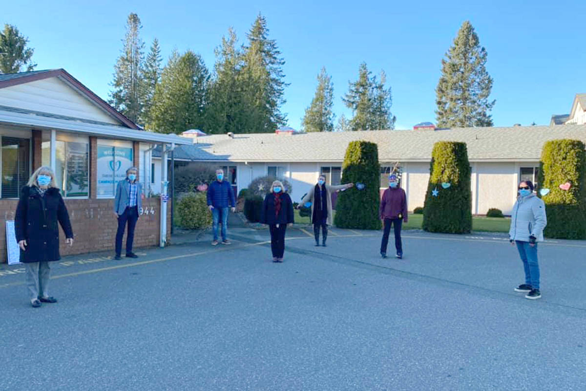 Tabor Village took to social media on Wednesday, Dec. 2, 2020 to share what it meant to them to have Langley Lodge staff visit and provide support. As of Tuesday (Dec. 1), the outbreak at Tabor had resulted in a total of 147 cases and 19 deaths since Nov. 4. (Tabor Village/Facebook)